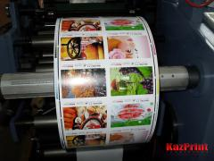 The press flexographic on flexible packaging