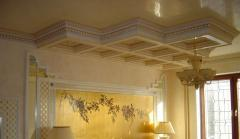 Decoration of interiors stucco molding