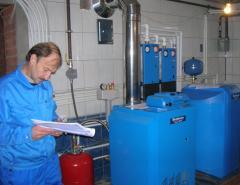 Service of the boiler equipmen