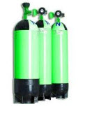 Gas station of gas cylinders. Filling of cylinders