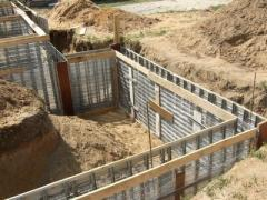 Preparation for construction of the house