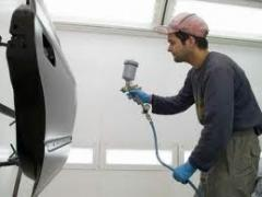 Works body and painting of cars