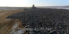 Device of asphalt concrete covering of highways