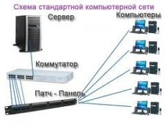Design, installation and service of a LAN and SKS
