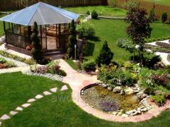 Registration of beds, flower beds, gardens,