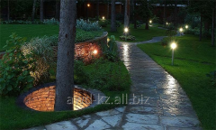 Illumination of gardens, reservoirs, houses,