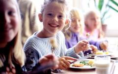 Certification of children's food