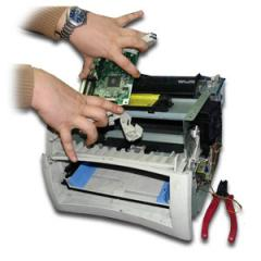 Repair and service of office equipment, office