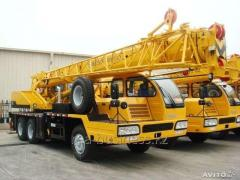 Services of the truck crane of 25-40-50-70-100