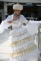 Прокат красивых свадебных казахских платьев на кыз