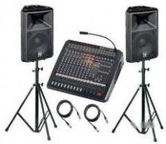 Hire of the sound equipmen