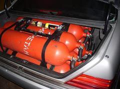Installation of the gas cylinder equipmen