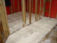 Thermal insulation, warming of floors polyurethane
