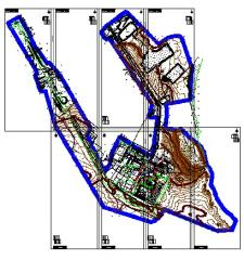 Services in creation of topographical plans and