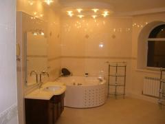 Internal finishing of cottages with development of