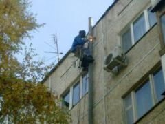 Welding works at height.