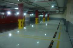 Device of epoxy polymeric floors