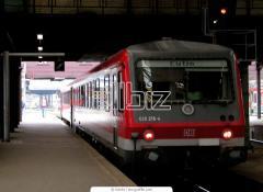 Перевозки пассажирские пригородными поездами
