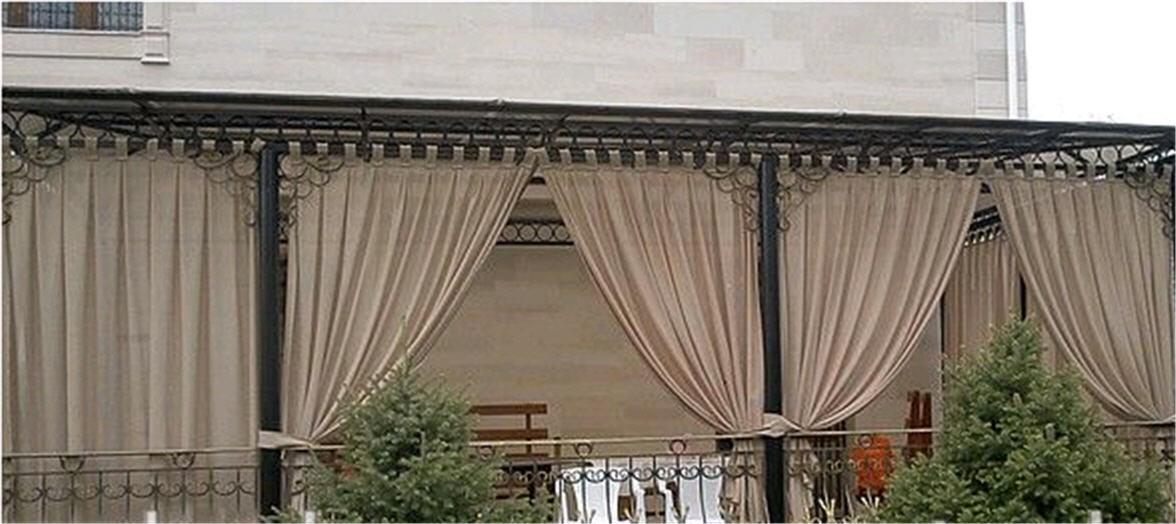 Как сшить шторы на террасу