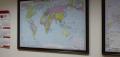 Карта настенная с багетом