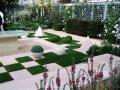 Сад в стиле хай тек